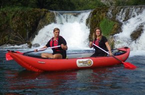 červencové chorvatské řeky